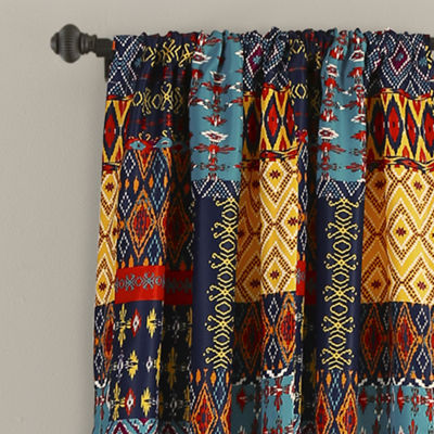 Half Moon Misha Room Darkening Window Curtain Multi Set 52X84