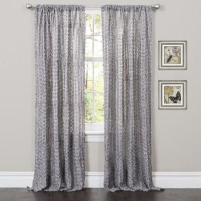 Lush Decor Rosina Window Panel Single Gray  52X84