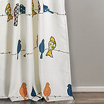 Half Moon Rowley Birds Room Darkening Window Curtain Multi Set 52X84 + 2 Inch Header