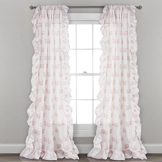 Lush Decor Ruffle FoX Window Curtain Panels 40X84Set