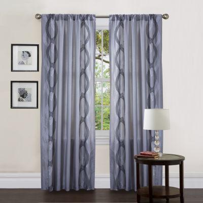 Lush Decor Talon Window Panel Single Gray 54X84
