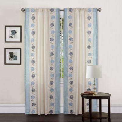 Lush Decor Annabelle Window Panel Single Blue 42X84
