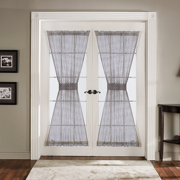 Lush Decor Antique 4-pc Gray Door Curtains Set 42X72