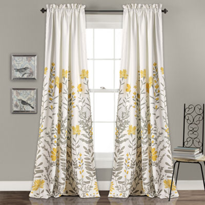 Half Moon Aprile Room Darkening Window Curtain Set52X84 + 2 Inch Header