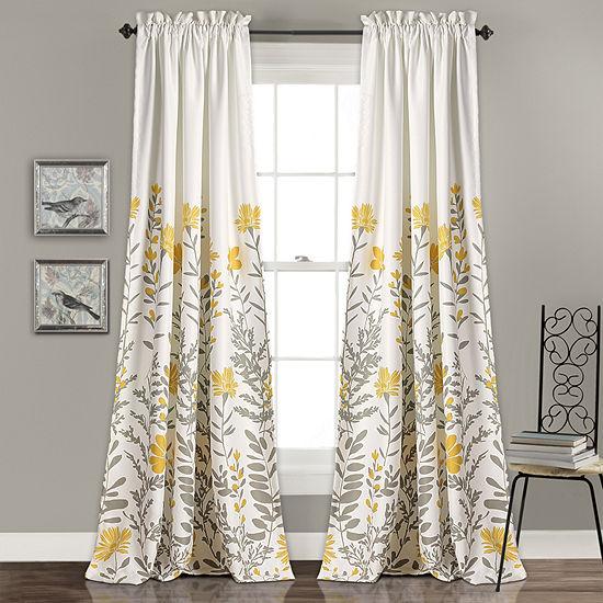 Half Moon Aprile Room Darkening Window Curtain Set 52X84 + 2 Inch Header