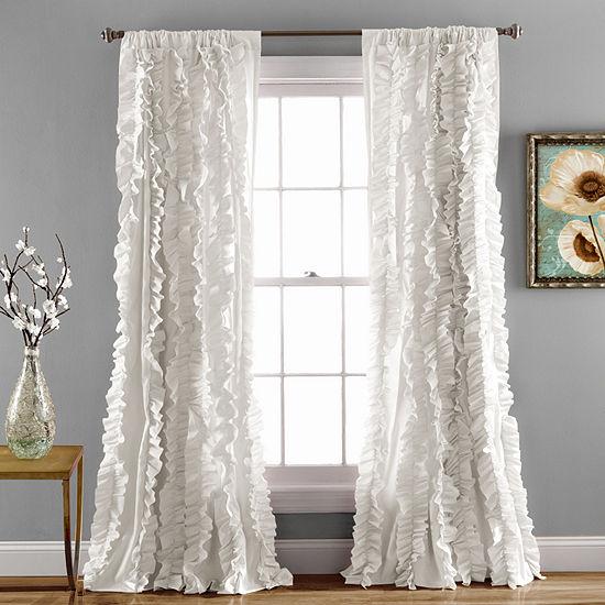 Lush Décor Belle Window Panel Single White 54X84