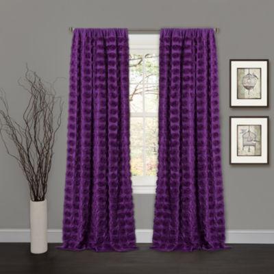 Lush Décor Emma White Window Curtain Single 50X84