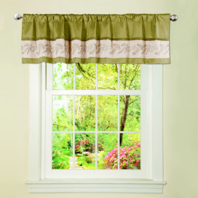 Lush Decor Ashlyn Valance Green Single 18x84
