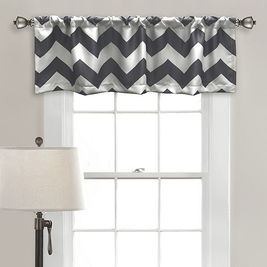Half Moon Chevron Room Darkening Valance Single 52x18