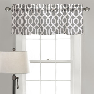 Half Moon Edward Trellis Room Darkening Valance Single 52x18+ 2 Inch Header