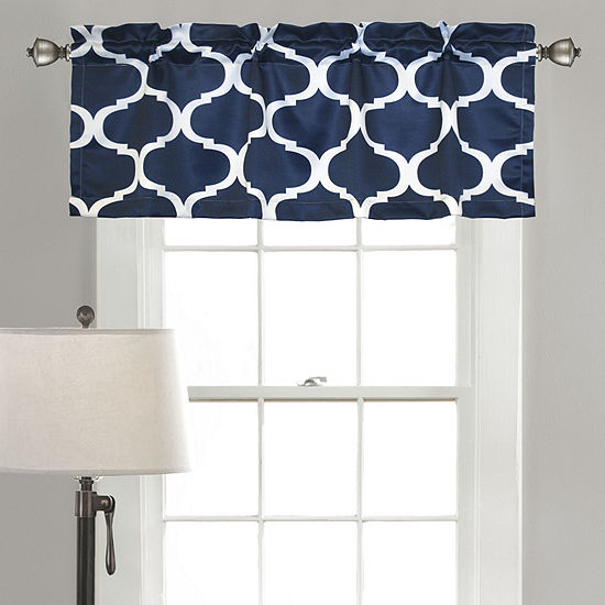 Half Moon Geo Room Darkening Valance Single 18x50+ 2 Inch Header