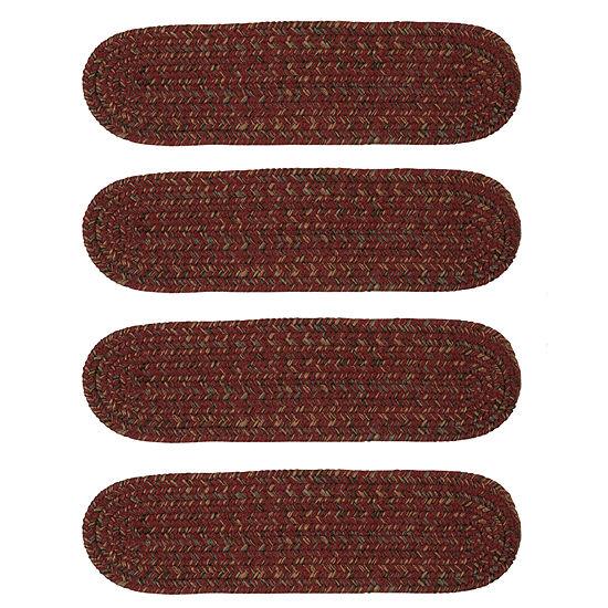 Colonial Mills Grafton Tweed Braided Oval Reversible Indoor Stair Treads