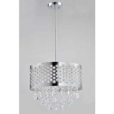 Tenbury Wells Collection Catalyn 4-light Chrome Crystal Chandelier