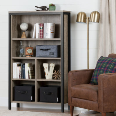 Munich 6-Shelf Bookcase with Cubes