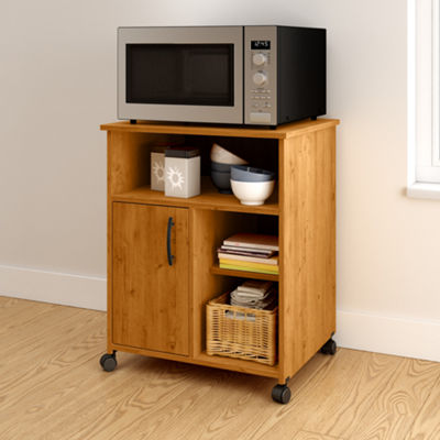 Axess Microwave Cart with Storage on Wheels