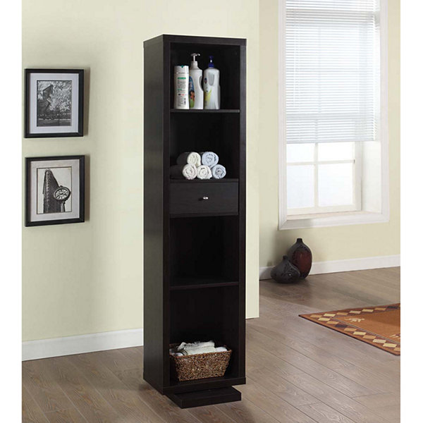 Tenbury Wells Bella Home Deluxe 71-Inch Full-length Mirror and Swivel Cabinet/Shelving Unit