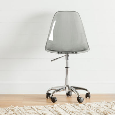 Annexe Acrylic Office Chair with Wheels