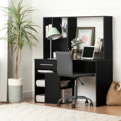 Annexe Desk and Gray Office Chair with Quilted Seat