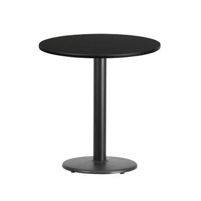 24'' Round Laminate Table Top with 18'' Round Table Height Base