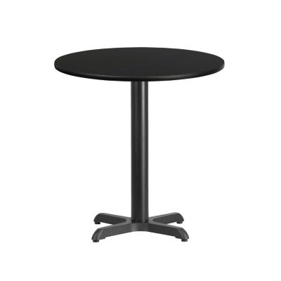 24'' Round Laminate Table Top with 22'' x 22'' Table Height Base
