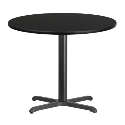36'' Round Laminate Table Top with 30'' x 30'' Table Height Base