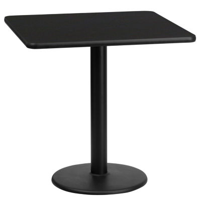 24'' Square Laminate Table Top with 18'' Round Table Height Base