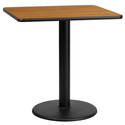 30'' Square Laminate Table Top with 18'' Round Table Height Base