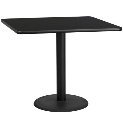 42'' Square Laminate Table Top with 24'' Round Table Height Base