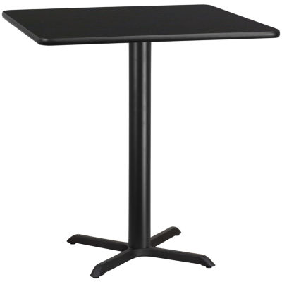 42'' Square Laminate Table Top with 33'' x 33'' Table Height Base