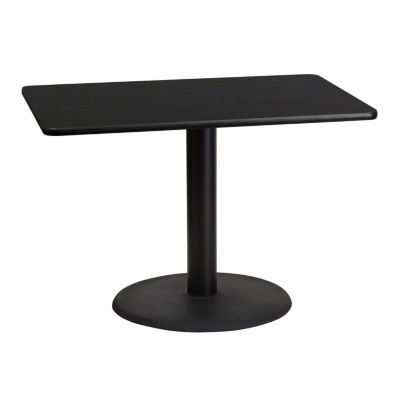 30'' x 42'' Rectangular Laminate Table Top with 24'' Round Table Height Base