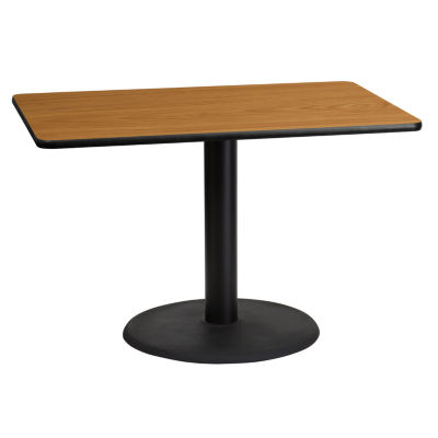 30'' x 45'' Rectangular Laminate Table Top with 24'' Round Table Height Base