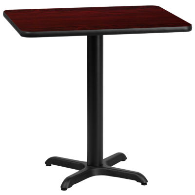 24'' x 30'' Rectangular Laminate Table Top with 22'' x 22'' Table Height Base