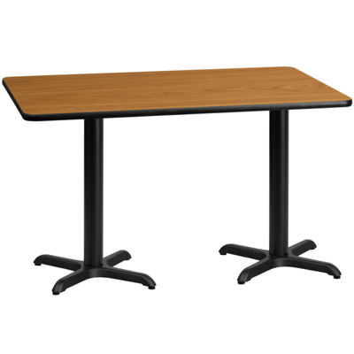 30'' x 60'' Rectangular Laminate Table Top with 22'' x 22'' Table Height Bases