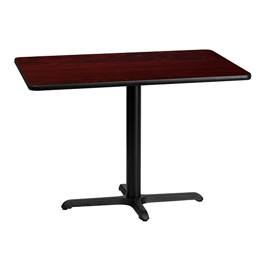 30'' x 42'' Rectangular Laminate Table Top with 22'' x 30'' Table Height Base