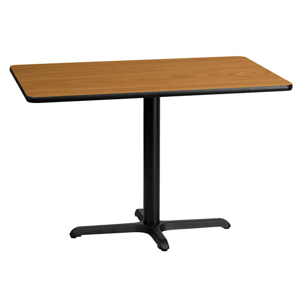 30'' x 45'' Rectangular Laminate Table Top with 22'' x 30'' Table Height Base