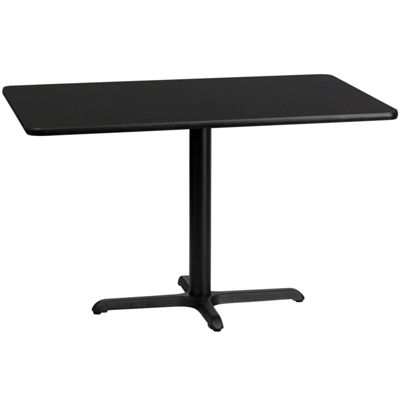 30'' x 48'' Rectangular Laminate Table Top with 22'' x 30'' Table Height Base