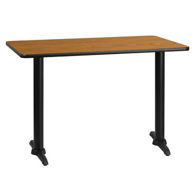 30'' x 45'' Rectangular Laminate Table Top with 5'' x 22'' Table Height Bases