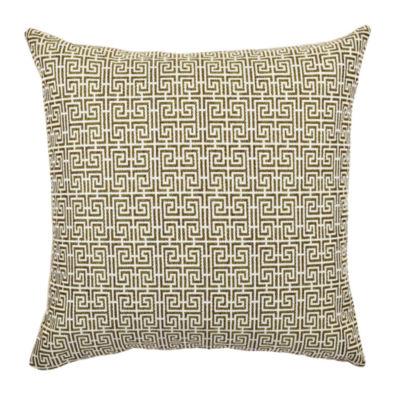 Vesper Lane Fret Pattern Jacquard Pillow