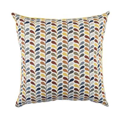 Vesper Lane Multicolored Leaf Print Designer Pillow