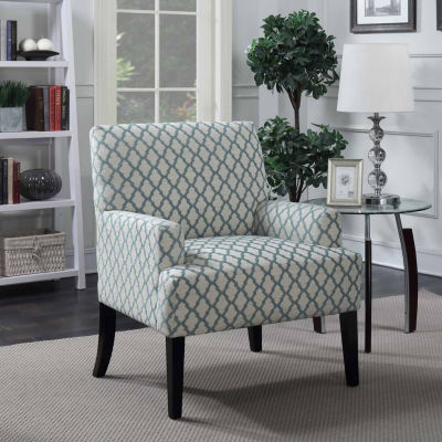 Madison Quatrefoil Accent Arm Chair