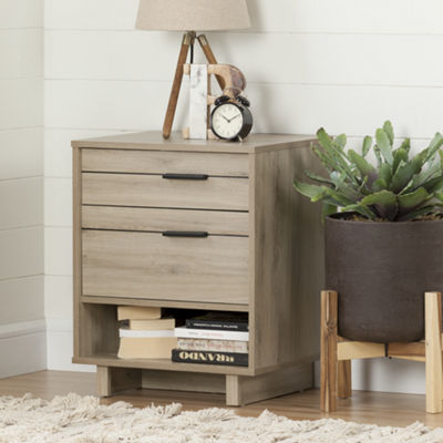 Fynn Nightstand with Drawers and Cord Catcher