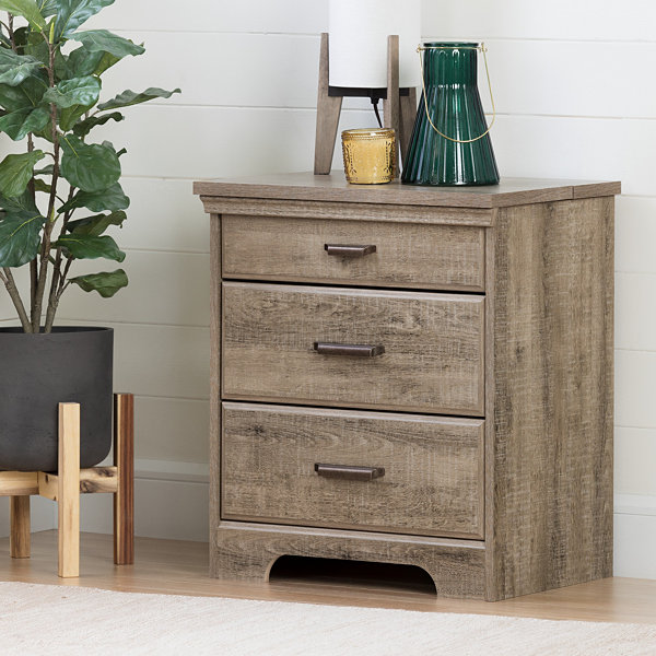 Versa Nightstand with Charging Station and Drawers