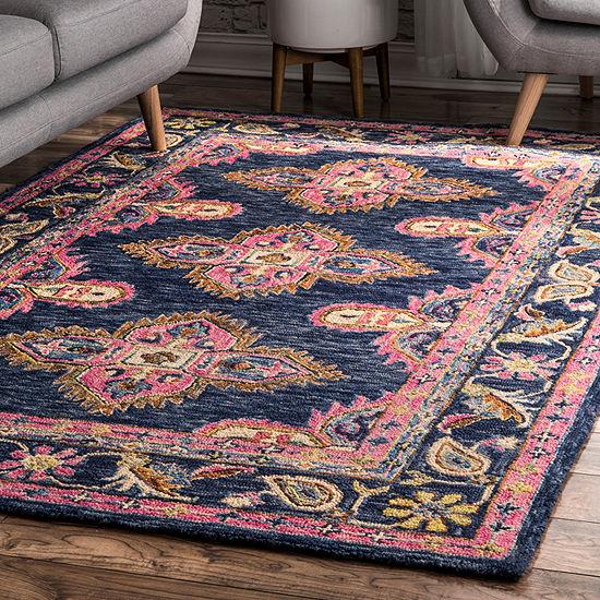 nuLoom Artie Bohemian Wool Handmade Area Rug