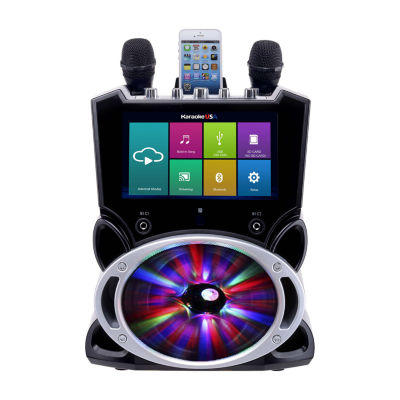 """Complete Wi-Fi Bluetooth Karaoke Machine with 9"""" Touch Screen, Recording and Bluetooth Speaker"""