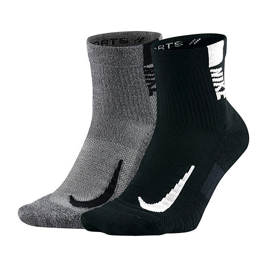 Nike 2 Pair Performance Ankle Socks - Extended Size