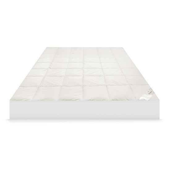 Mary Jane's Home 300 Thread Count Deep Pocket Mattress Pad with Organic Cotton Cover