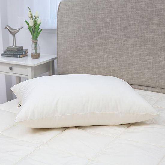 Mary Jane's Home 300 Thread Count Soft Density 2-Pack Pillow with Recycled Polyester Blend Fill