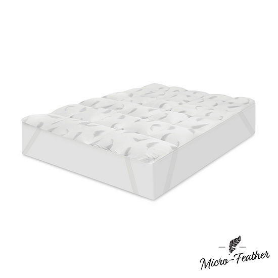 """Sensorpedic Quilted And Micro-Feather 1"""" Memory Foam Mattress Topper"""