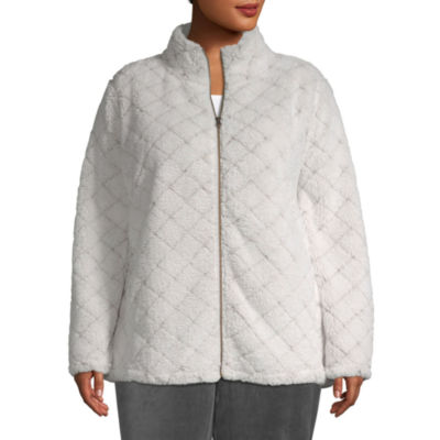 St. John's Bay Active Plush Quilted Jacket - Plus