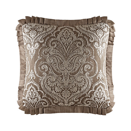 Five Queens Court Stanford Square Throw Pillow